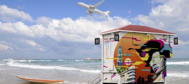 Lifeguard Tower pop up hotel – Tel Aviv – Israel