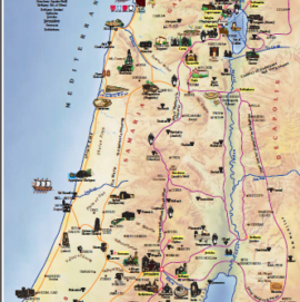 The map of Combined In the Footsteps of Jesus Tour, 10 days/9 nights