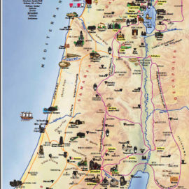 The map of Multi-Denominational Tour of Israel, 10 days / 9 nights