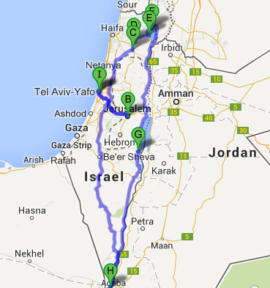 The map of First Timers Tour, 14 days / 13 nights