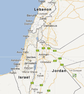 The map of 2021-2022 Classic Tour of Israel, 8 night