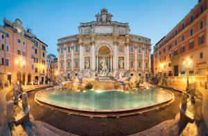 Gems of Italy Tour. Fontaine de Trevi, Rome
