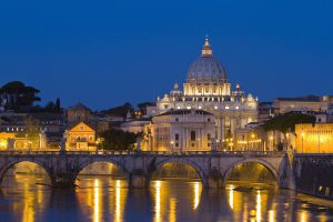 Gems of Italy Tour. Vatican at night, Rome