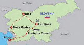 The map of Highlights of Slovenia, 7 days/6 nights