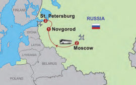 The map of Little Tour of Russia, 7 days/6 nights