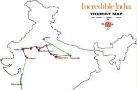 The map of Women's Only Tour to India