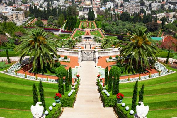 Haifa, Israel. Bahai Gardens in Haifa Israel.