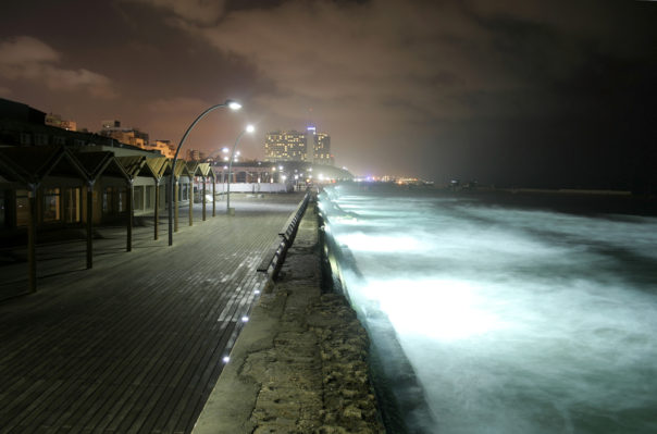 Tel Aviv, Israel. Pier by night tel aviv isreal