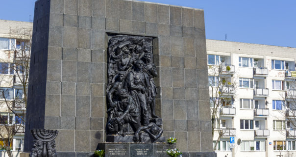 Ghetto Heroes Monument in Warsaw