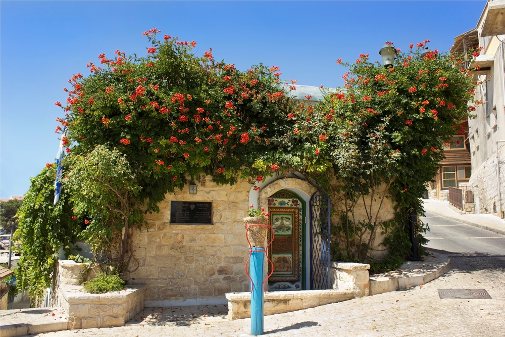 old house in Safed, Galilee. Israel