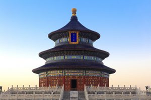 Temple of Heaven at dusk in Beijing, Shanghai's Jewish History