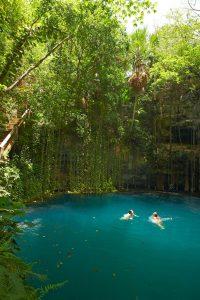 Private cenote , Yucatan Resort Experience. Chichen Itza and Xocempich.