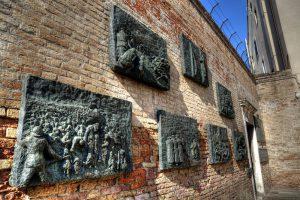 Italy Bar-Bat Mitzvah Tour, 11 days/10 nights. Jewish Memorial, Venice Ghetto, Italy