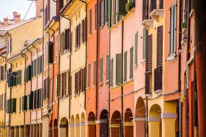 Italy Bar-Bat Mitzvah Tour, 11 days/10 nights. Porticos of Bologna, Italy