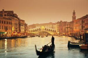 Italy Bar-Bat Mitzvah Tour, 11 days/10 nights. Venice Grand Canal with Gondolas , Italy