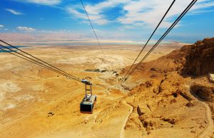 Cable car in fortress Masada, Israel, Jewish Heritage Tour to Israel with Eilat
