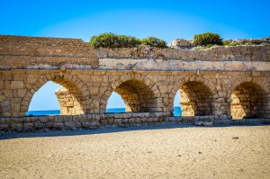 Aqueduct in Caesarea, Jewish Heritage Tour to Israel with Eilat