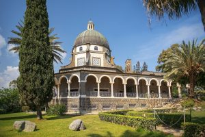 Fall accessible multicultural tour, Church of the Beatitudes, Sea of Galilee