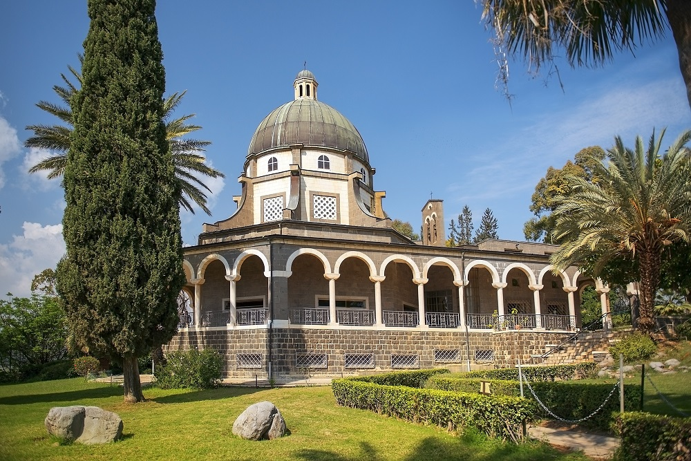 accessible multicultural tour,Church of the Beatitudes, Sea of Galilee