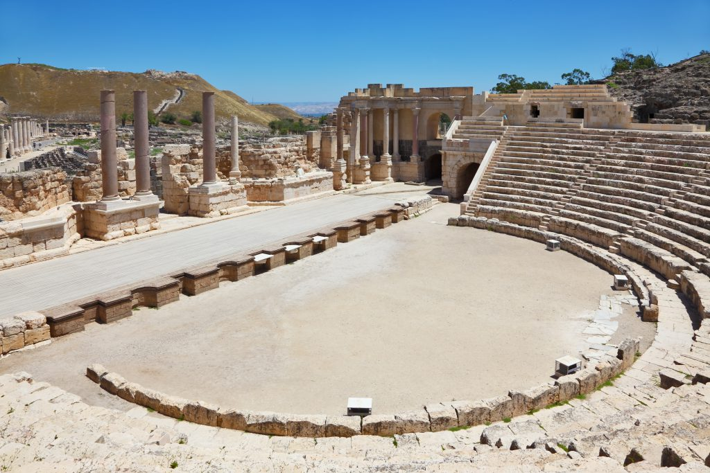 Jewish Heritage Tour to Israel. Roman amphitheater in Beit Shean.