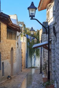 Jewish Heritage Tour to Israel with Eilat, 14 nights. Street in Safed city