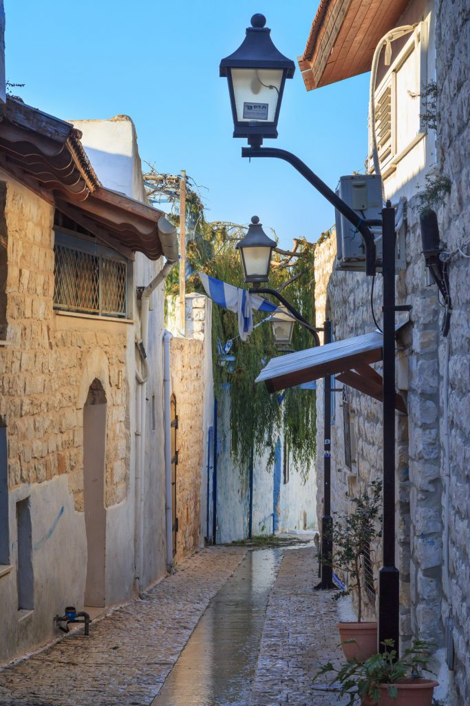 Jewish Heritage Tour to Israel. Street in Safed city