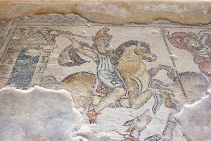 Small Group Tour to Israel 2018, 11 days/10 nights. Antique mosaic, national park Zippori, Galilee