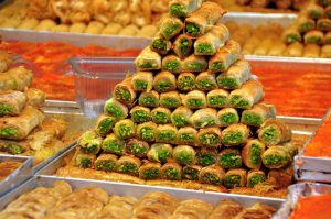 Small Group Tour to Israel 2018, 11 days/10 nights. Baklava at Mahane Yehuda Market