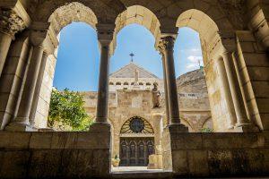 Vue de l'église de la Nativité Bethléem, Jérusalem. Circuit en français de 8 jours en Terre Sainte