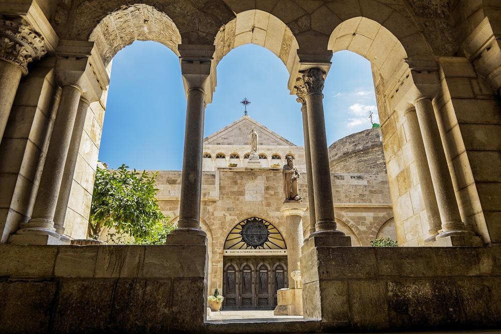 Greek Orthodox Pilgrimage to the Holy Land. Church of the Nativity Bethlehem.