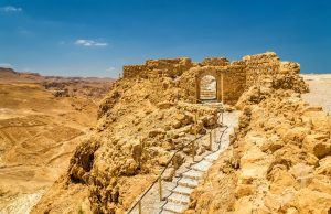 Small Group Tour to Israel 2018, 11 days/10 nights. Ruins of the Masada fortress - the Judaean Desert
