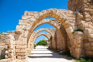 Luxury Small Group Tours to Israel 2019, 11 days/10 nights. Ruins of antique Caesarea