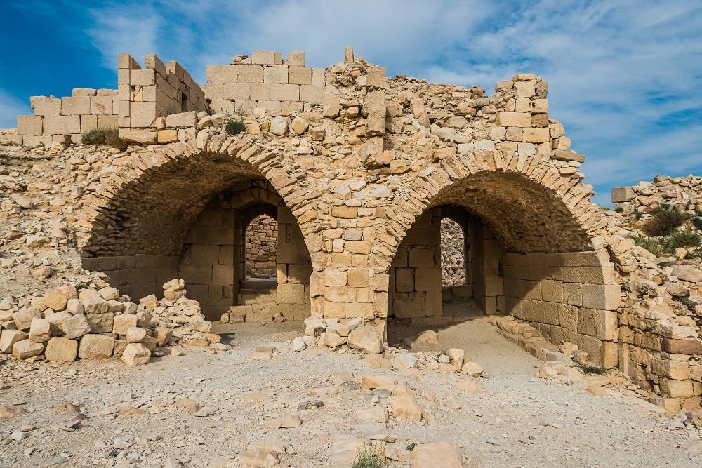 Greek Orthodox Pilgrimage to the Holy Land. Shobak crusader castle fortress, Jordan
