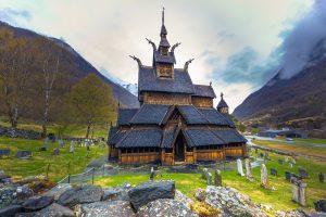 Scandinavia – Northern Wonders, 10 days / 9 nights. Stave Church of Borgund in Laerdal, Norway