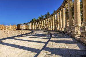 Circuit en français avec Jordanie, Ancienne ville romaine de Jerash en Jordanie.