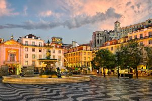 Luxurious Kosher tour to Southern Spain, Gibraltar, Morocco and Portugal. Rossio square in Lisbon, Portugal
