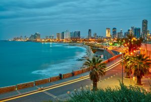 Small Group Deluxe Tours to Israel, 12 days/11 nights. Tel Aviv, Israel. After sunset view from Jaffa, Small Group Deluxe Tours to Israel