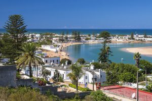 View of Oualidia. Luxury Jewish Heritage Tour Morocco