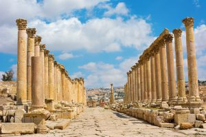 "Pilgrimage tour ""In the Footsteps of Jesus"" to the Holy Land and Jordan. Jerash ruins Jordan"