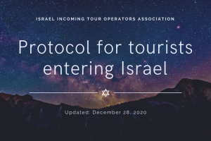 Protocol for tourists entering Israel